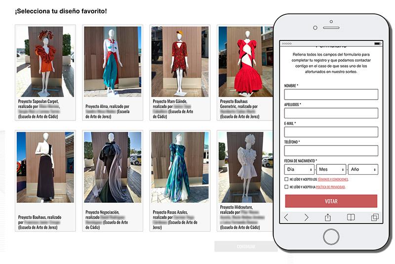ejemplo de votaciones online del sector moda