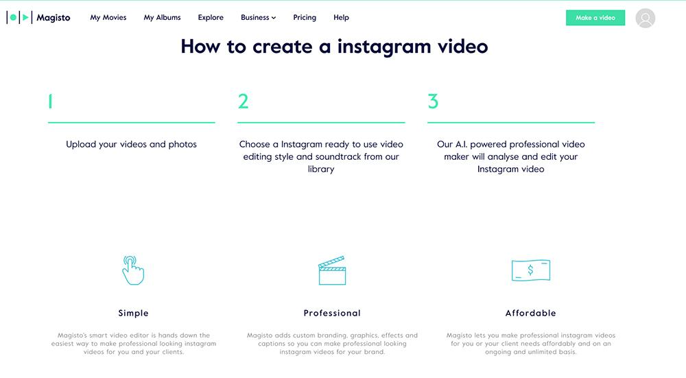 ejemplo de herramienta para crear videos Magistro