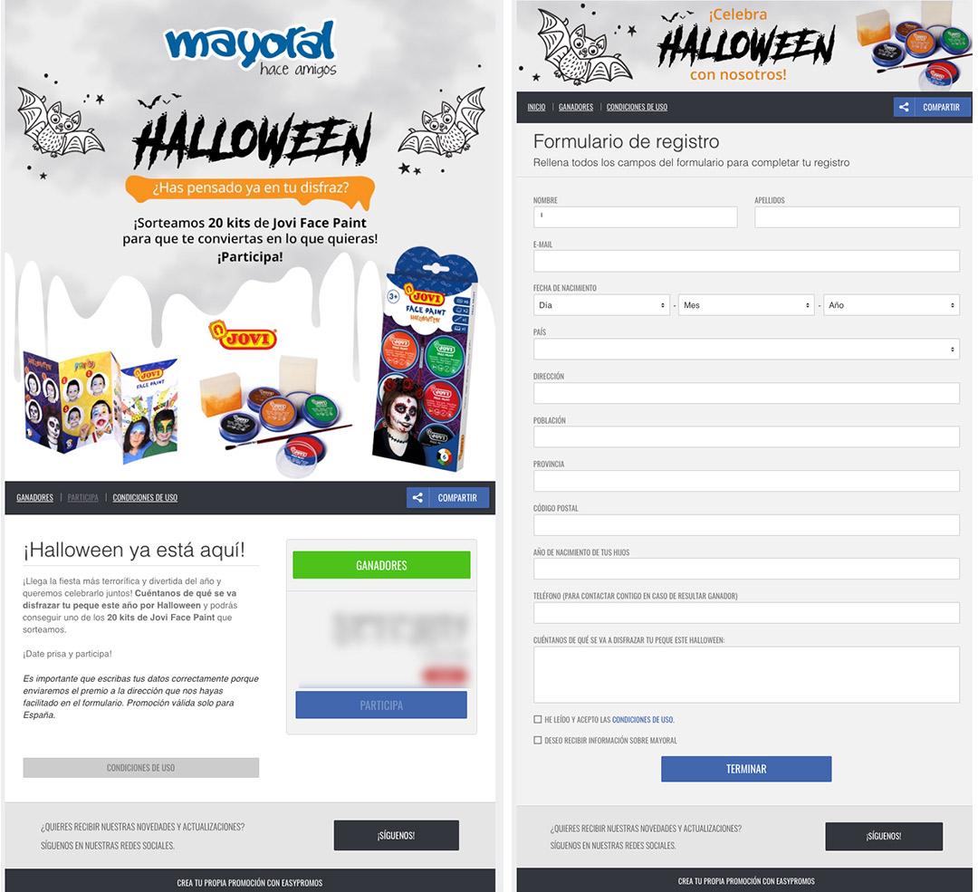 ejemplo halloween mayoral