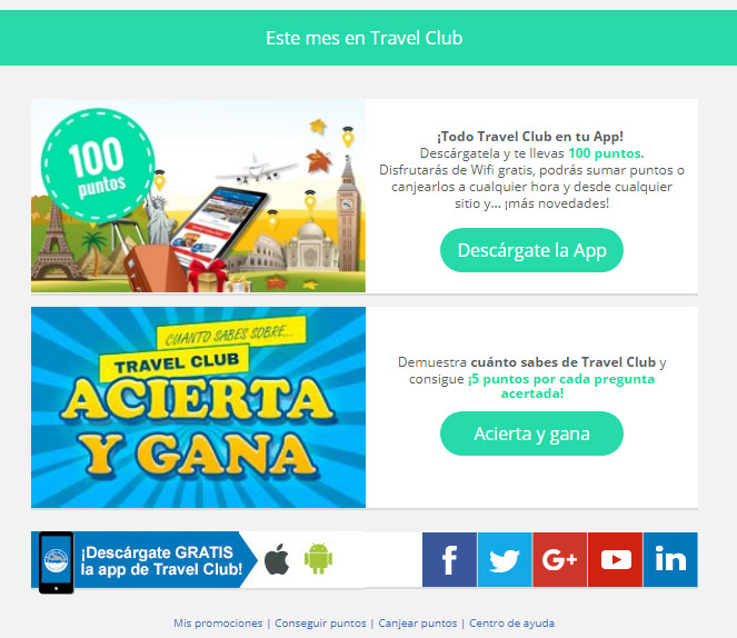 modulo email travel club
