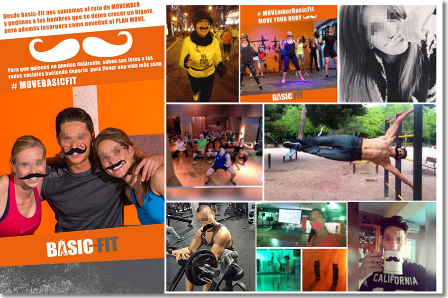 concurso de fotos Movember de Basic Fit