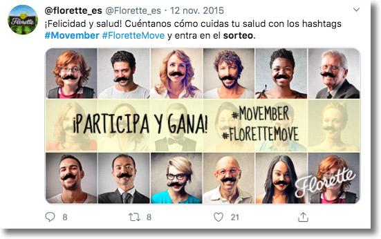 sorteo en Twitter Movember