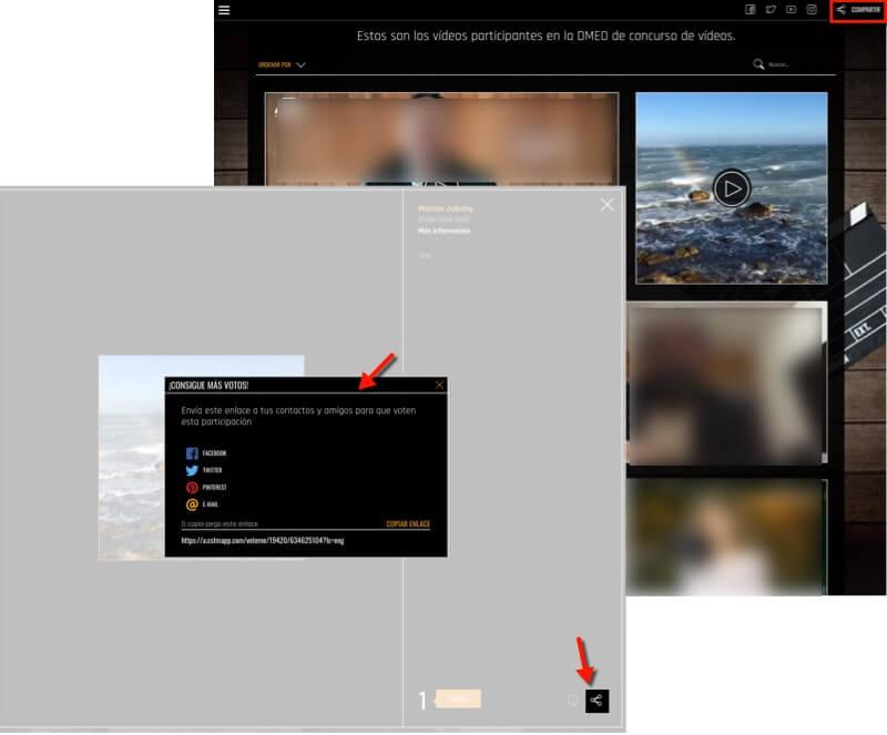 opciones compartir video redes sociales