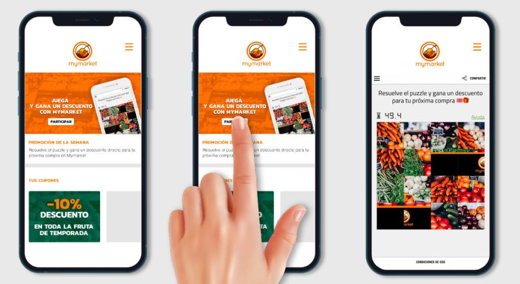 promocion integrada en app supermercado