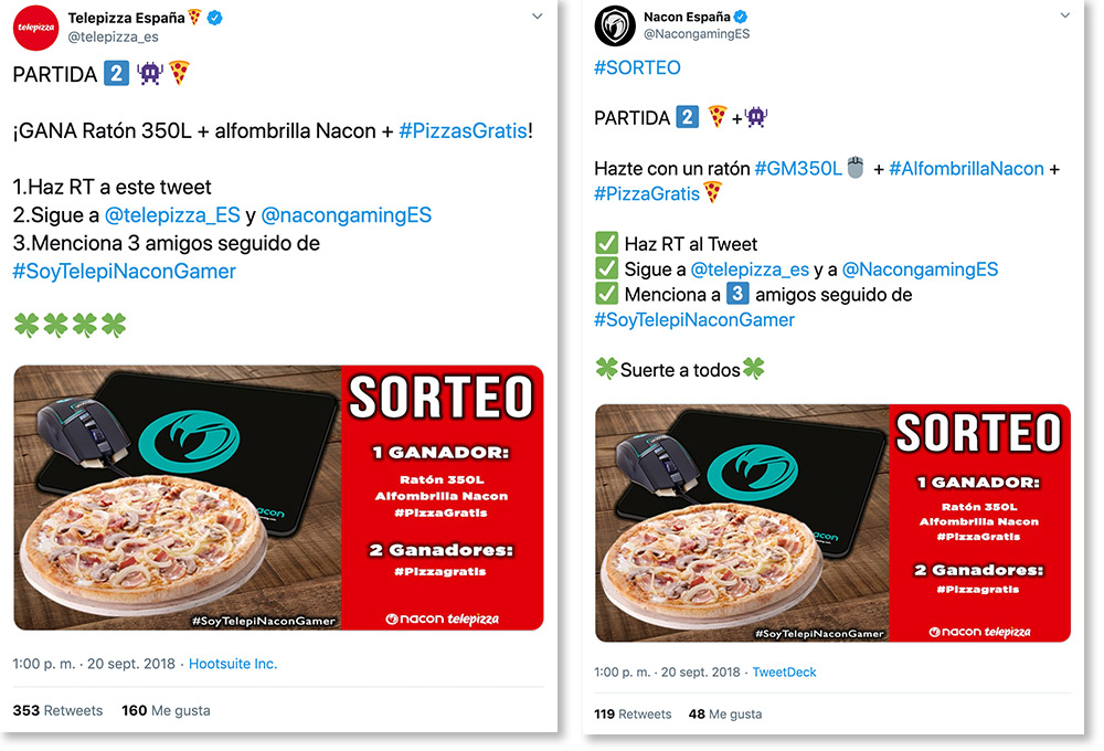 marketing colaborativo Telepizza - Nacon