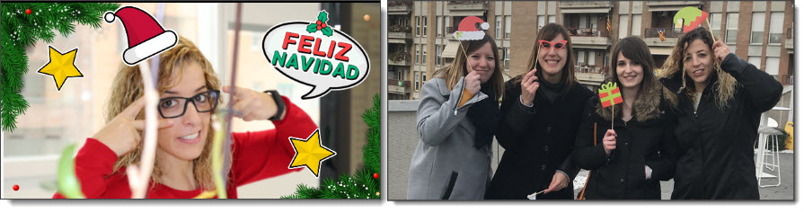 photocall digital fiesta Navidad