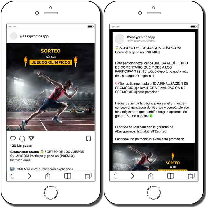 plantillas de sorteo en redes sociales de los juegos olímpicos
