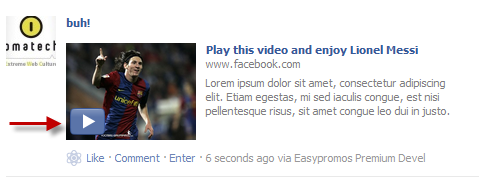 Play the introduction video directly on the Facebook wall
