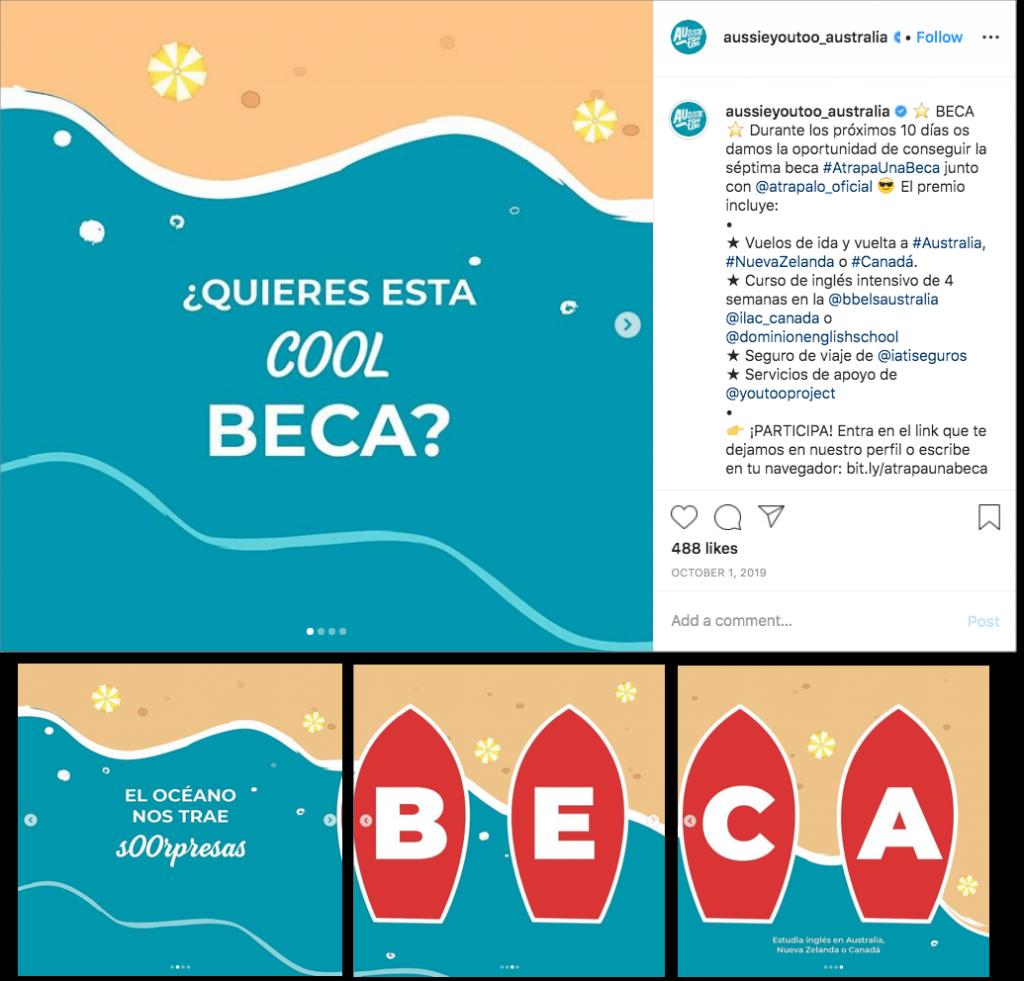 posts concurso en redes sociales