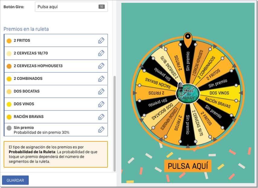 ruleta de premios online ejemplo