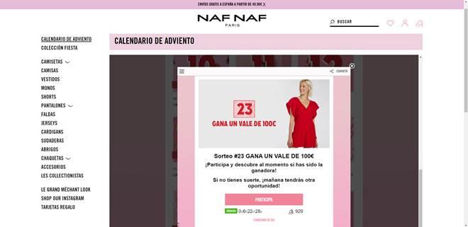 ejemplo de promoción Naf Naf