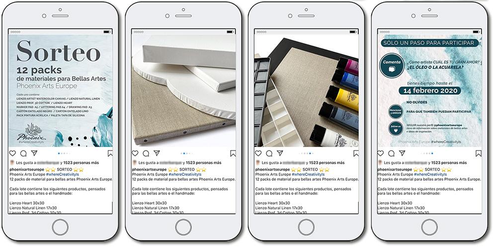 ejemplo de promoción de un producto en Instagram