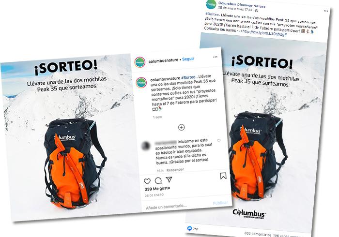 ejemplo de promoción de un producto en varias redes sociales