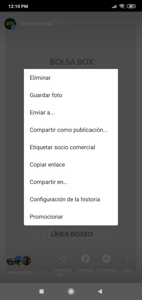 promocionar Stories desde app Instagram