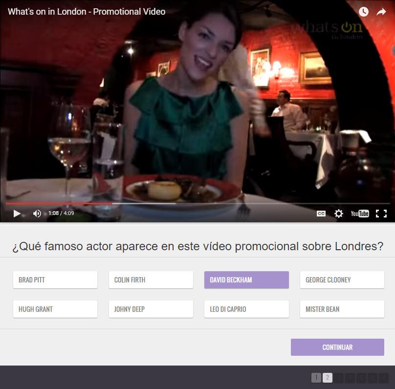 promocionar video con un cuestionario