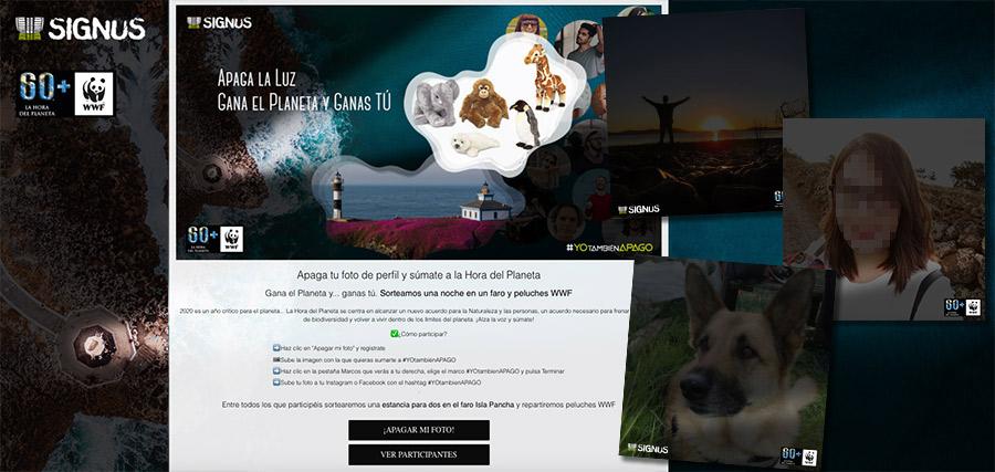 promoción dedicada a la Hora del Planeta