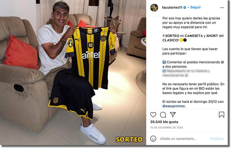 Caso de éxito de Facu Torres - Cómo un futbolista hace sorteos en redes sociales
