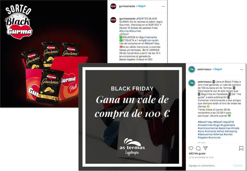 sorteos instagram black friday