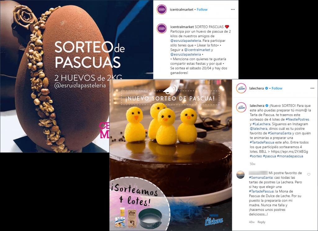 sorteo pascuas instagram