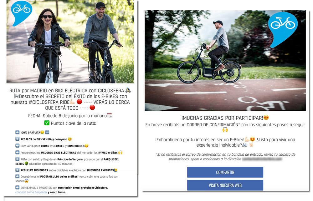 captar nuevos leads para un club ciclista