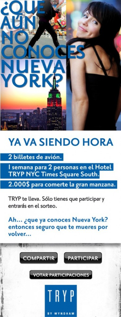 Easypromos: White Label promotion Tryp Hotels