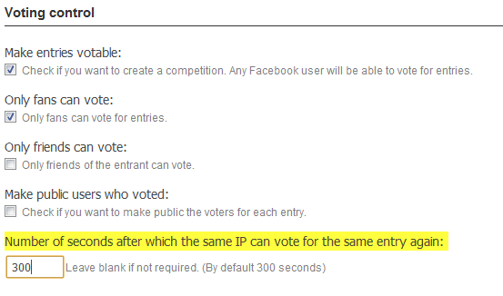 Control de la frecuencia de votos por IP