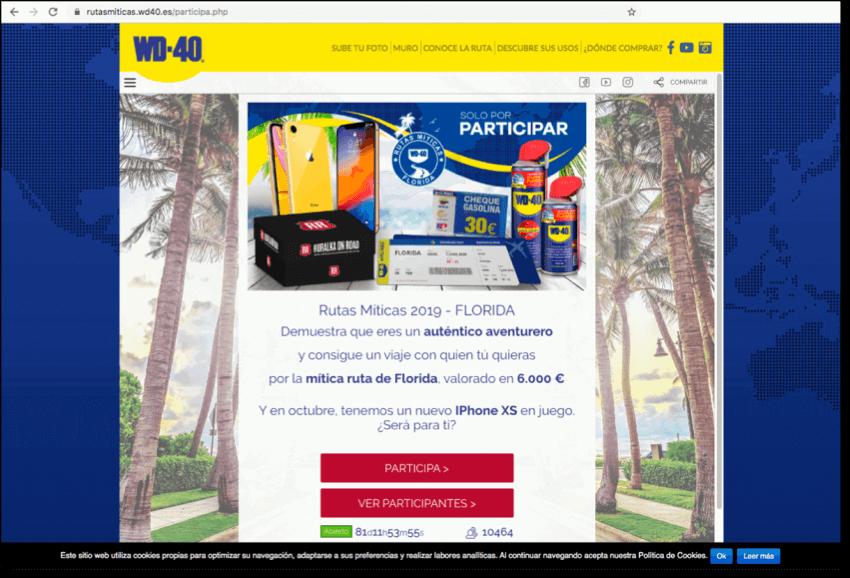 widget promocion en web