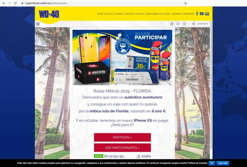 promocion en web widget