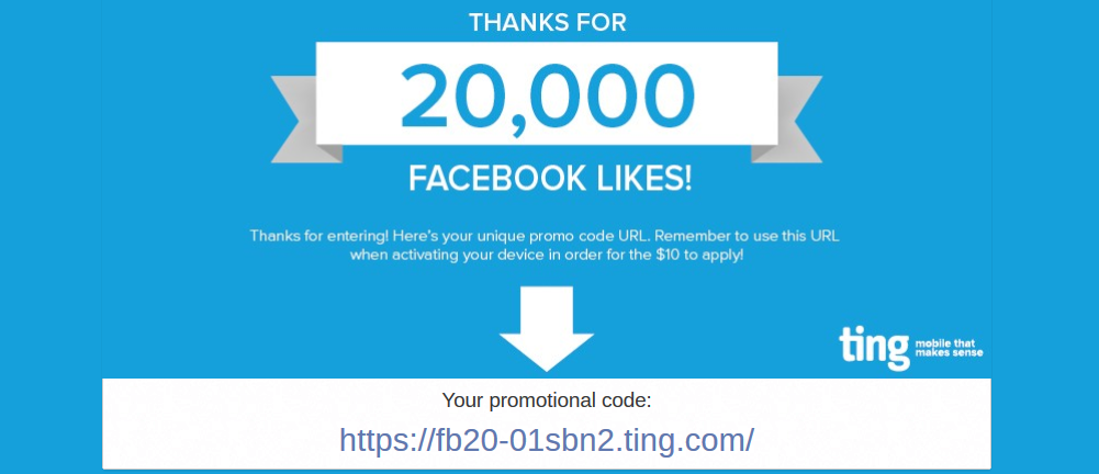 your promotional code