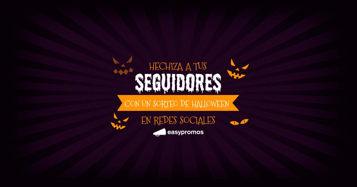 ejemplos de sorteos en redes sociales de Halloween