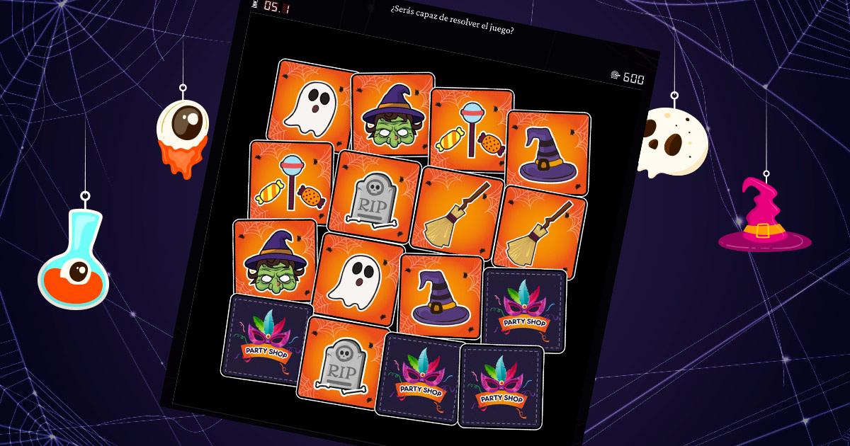 demo de un juego de memoria de halloween